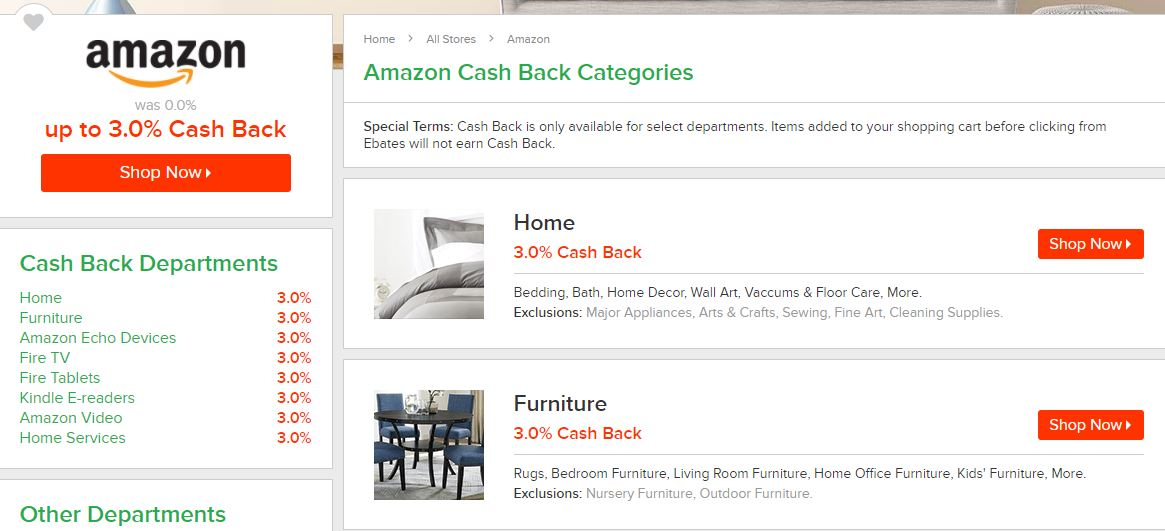 Amazon - Ebates