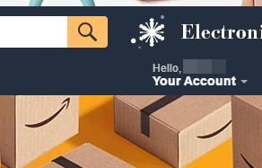 Входим в аккаунт Amazon